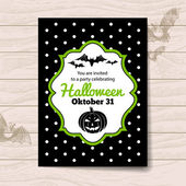 Halloween invitation — Stock Vector