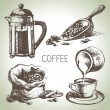 Hand drawn coffee set — Stock Vector #32047115