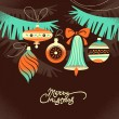 Vintage Christmas background — Imagen vectorial