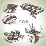 Hand drawn sushi set — Stock Vector #33688215