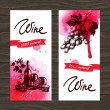 Banners of wine vintage background.  — Stock Vector