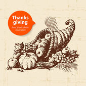 Vintage Thanksgiving Day — Stock Vector