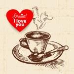 Valentine's Day vintage background — Stok Vektör