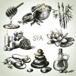 Spa sketch icon set — Stock Vector #40822593
