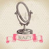 Beauty sketch background. — Stock Vector