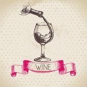 Wine vintage background. — Stock Vector