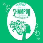 Shampoo women label — Stock Vector