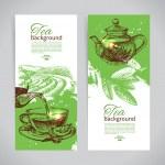 Set of tea vintage banners — Stock Vector #42722479