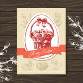 Vintage Easter greeting card — Stock Vector