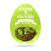 Tarjeta de felicitación con el símbolo del huevo de pascua. — Vector de stock