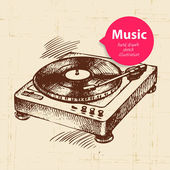 Vintage music background — Stock Vector