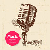 Vintage music background. — Stock Vector
