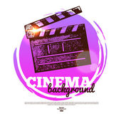 Movie cinema banner with hand drawn sketch illustration — Vector de stock