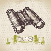 Vintage sketch tourism background — Stockvektor