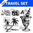 Travel and holiday set — Stock Vector
