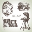 4th of July set. — Stock Vector #46334755