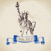 4th of July vintage background. — Stock Vector