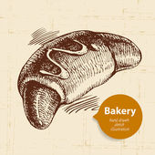 Bakery sketch background. — Stockvektor