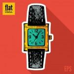 Sketch wristwatch — Stock Vector #47445455