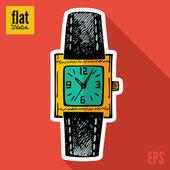 Sketch wristwatch — Stock Vector