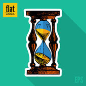Hourglass Sketch — Stock Vector