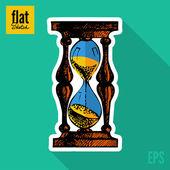 «песочные часы» эскиз — Cтоковый вектор