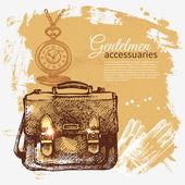 Gentleman accessories — Stock Vector