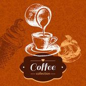 Vintage coffee sketch — Stock Vector