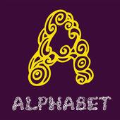 Sketch alphabet. Letter A — Stock Vector