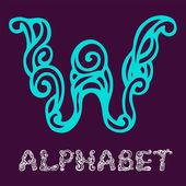 Alphabet. Letter W — Stock Vector