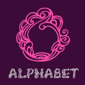 Alphabet. Letter O — Stock Vector