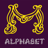 Sketch alphabet. Letter M — Stock Vector