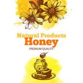 Fondo de miel — Vector de stock