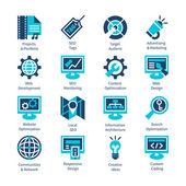 SEO and internet optimization icon set. — Stock Vector
