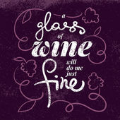 Wine list typographic poster. — Stock Vector
