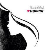 美丽的女人剪影. — 图库矢量图片