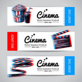Set of movie banners. — Stock Vector