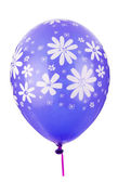 Color balloon with flower decoration — Stock Photo