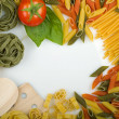 Overhead Italian pasta — Stock Photo