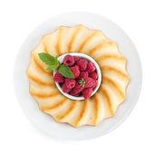 Fresh berries pie on plate — Stock Photo