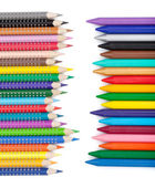 Various color pencils and markers — Stock Photo