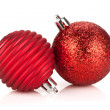 Christmas red bauble decoration — 图库照片