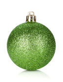 Christmas green bauble decoration — Stock Photo