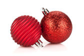 Christmas red bauble decoration — Stock Photo