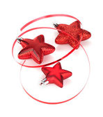 Christmas star shaped decoration — Stock Photo