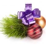 Dekor und Tanne Weihnachtsbaum — Stockfoto