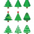 Stock Vector: Christmas fir trees