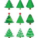 árboles de abeto de Navidad — Vector de stock