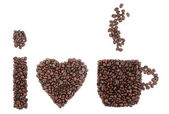 Eu amo café — Foto Stock