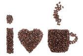 Jag älskar kaffe — Stockfoto